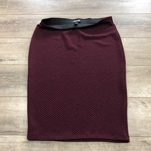 BUNDLE SALE 3/$25 Burgundy Pencil Skirt